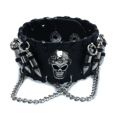 GOTHIC VINTAGE SKULL CHAIN WRISTBAND-Rebellious Creatures