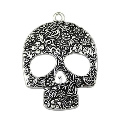 LARGE SKULL PENDANT NECKLACE-Rebellious Creatures