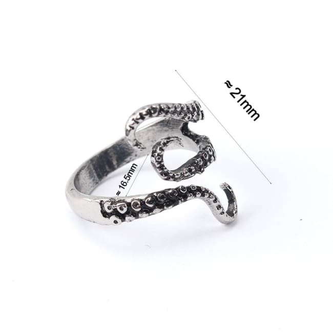 OCTOPUS TENTACLE TITANIUM STEEL RING