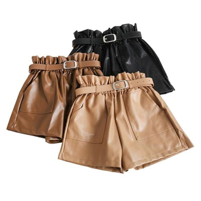 PIA LEATHER SHORTS - Bottoms