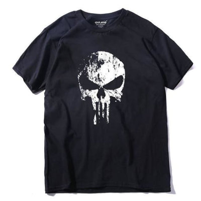 PUNK GOTHIC FADED SKULL 100% COTTON T-SHIRT-Rebellious Creatures