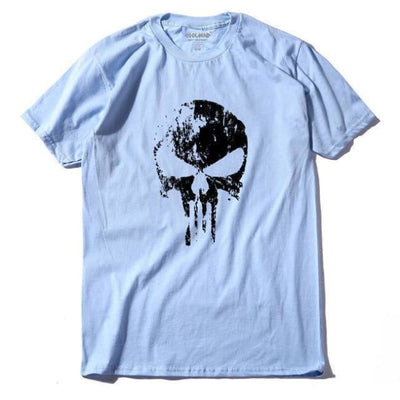 Punk Gothic Faded Skull 100% Cotton T-Shirt - Q Lan / Xs
