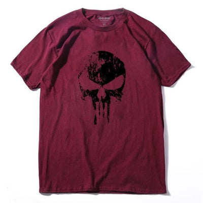 Punk Gothic Faded Skull 100% Cotton T-Shirt - Ls 1 / Xs
