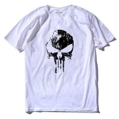 Punk Gothic Faded Skull 100% Cotton T-Shirt - Bs / Xs