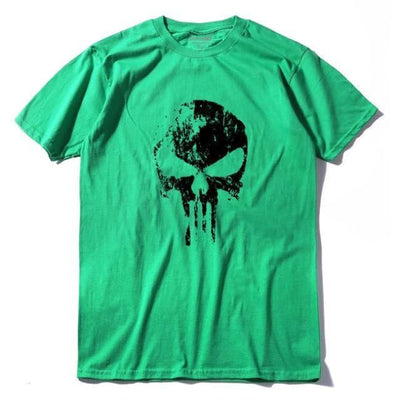 Punk Gothic Faded Skull 100% Cotton T-Shirt - Lv / Xs