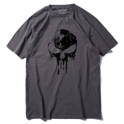 Punk Gothic Faded Skull 100% Cotton T-Shirt