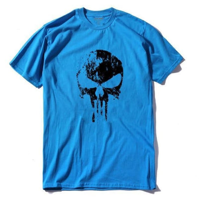 Punk Gothic Faded Skull 100% Cotton T-Shirt - Bsl / Xs