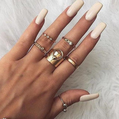 Punk & Gothic Ring Sets (8 Styles) - Oring