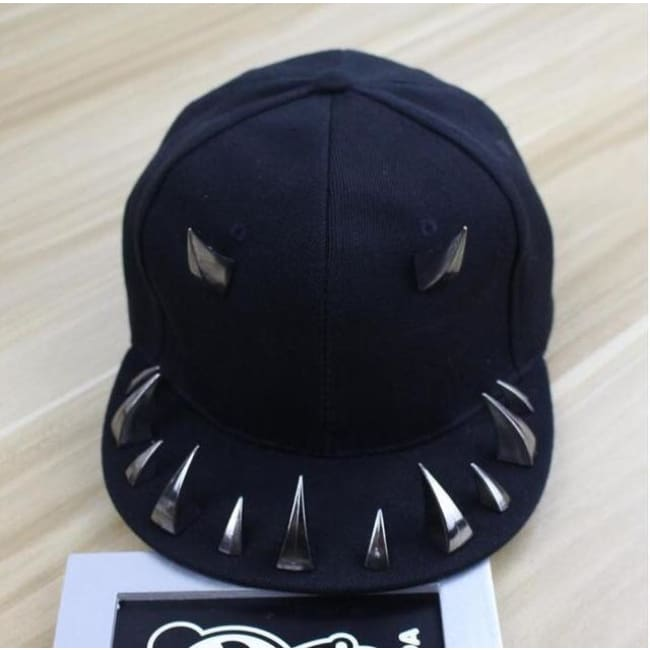 PUNK GOTHIC SPIKED RIVET DEVIL CAP