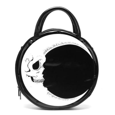 PUNK MOON SKULL HANDBAG-Rebellious Creatures