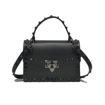 PUNK RIVET STUDS MESSENGER PU LEATHER HANDBAG-Rebellious Creatures