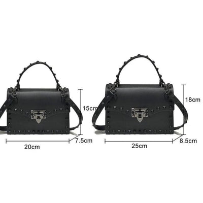 Punk Rivet Studs Messenger Pu Leather Handbag
