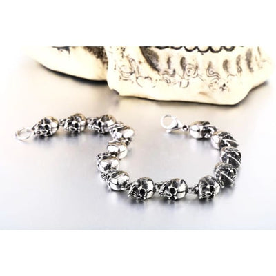 Punk Rock Skull Steel Bracelet