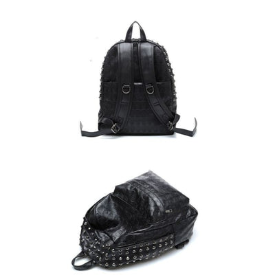 Punk Skull & Rivet Backpack