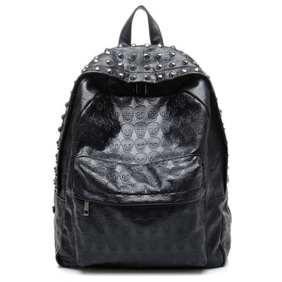PUNK SKULL & RIVET BACKPACK-Rebellious Creatures