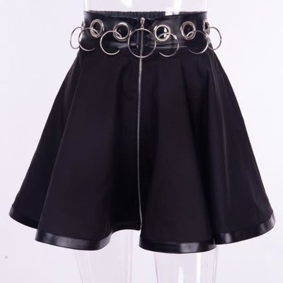 SELENE O-RING HIGH WAIST SKIRT-Rebellious Creatures