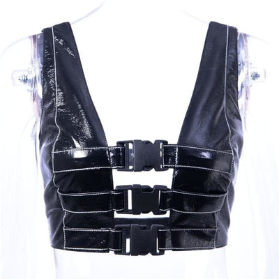 SEXY BUCKLE TANK TOP-Rebellious Creatures
