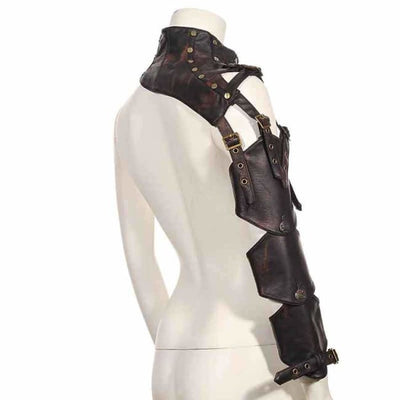 Steam Punk Leather Rivet Arm Buckled Armour Sleeves