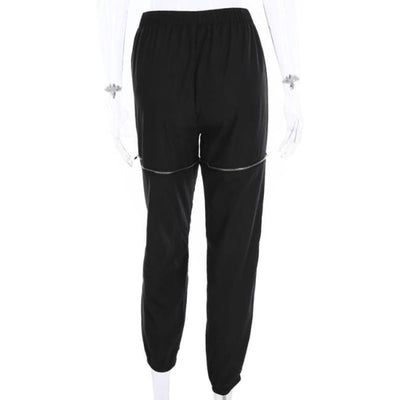 STREETWEAR ZIPPED KNEES PANTS - Bottoms