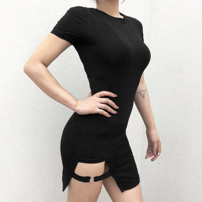 THALIA BANDAGE STRAP BODYCON DRESS-Rebellious Creatures