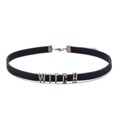 VINTAGE LETTERS VELVET CHOKER (CUSTOMISABLE)-Rebellious Creatures