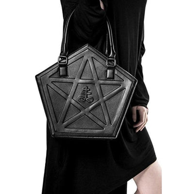 Wiccan Pentagram Darkness Gothic Shoulder Handbag