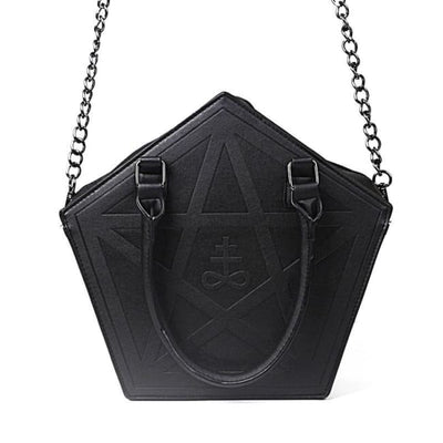 WICCAN PENTAGRAM DARKNESS GOTHIC SHOULDER HANDBAG-Rebellious Creatures