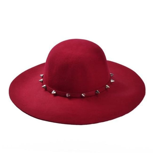 WICCAN SPIKED BRIM HAT-Rebellious Creatures