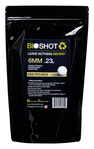 6mm .23g Biodegradable Airsoft (5000 rounds White)