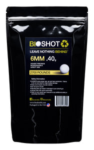 6mm .40g Biodegradable Airsoft BBs (2700 rounds White or Black)
