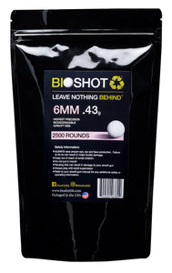 6mm .43g Biodegradable Airsoft BBs (2500 rounds White)