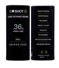 Load image into Gallery viewer, BioShot .36g 400 Round Sniper Pack Competition Grade Biodegradable 6mm Airsoft bbs