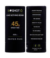 Load image into Gallery viewer, BioShot .45g 400 Round Sniper Pack Competition Grade Biodegradable 6mm Airsoft bbs
