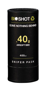 BioShot .40g 400 Round Sniper Pack Competition Grade Biodegradable 6mm Airsoft bbs