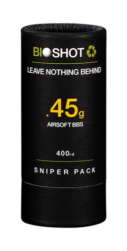 BioShot .45g 400 Round Sniper Pack Competition Grade Biodegradable 6mm Airsoft bbs