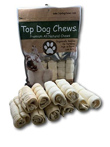 "Buffalo Beef Cheek Rolls 5""-6"" Pack of 5 - Top Dog Chews"