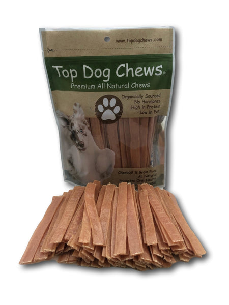 Flat Turkey Tendons - Made in The USA - Large 1LB/16oz Bag - Top Dog Chews
