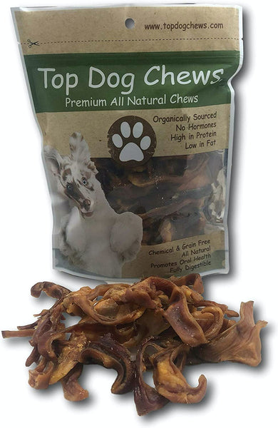 Pig Ear Slices - 1lb Bag - Top Dog Chews