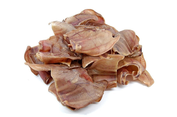 Pig Ears for Dogs 100 Pack - Made in the USA - Top Dog Chews