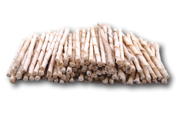 Rawhide Natural Twist Sticks -Pack of 100 From Regular - Top Dog Chews