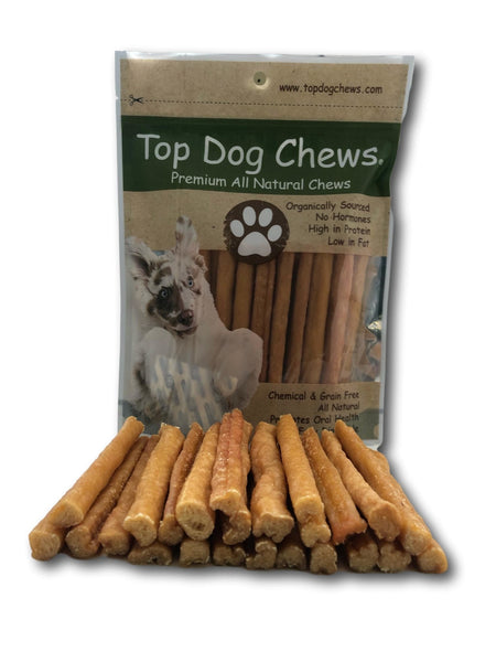 Turkey Tendon Round - Made in The USA - Large 1LB/16oz Bag - Top Dog Chews