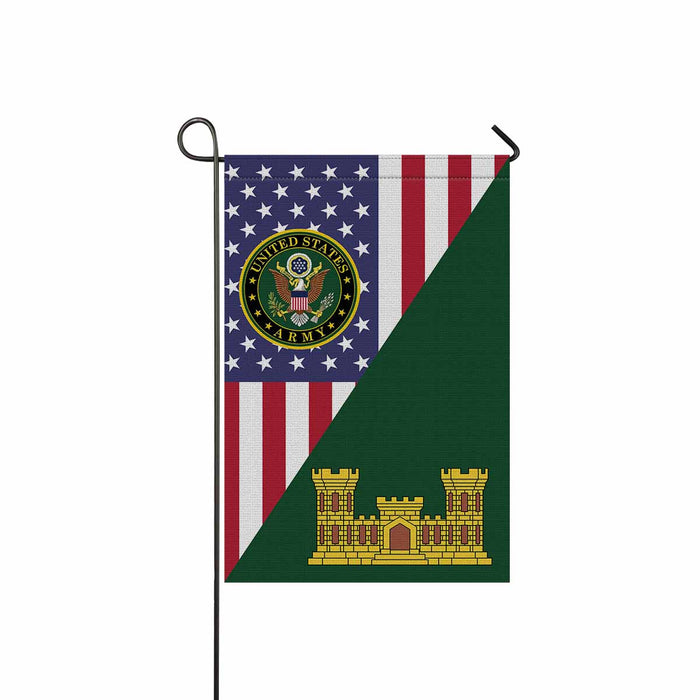U.S. Army Corps of Engineers Garden Flag 12 Inch x 18 Inch Twin-Side Printing