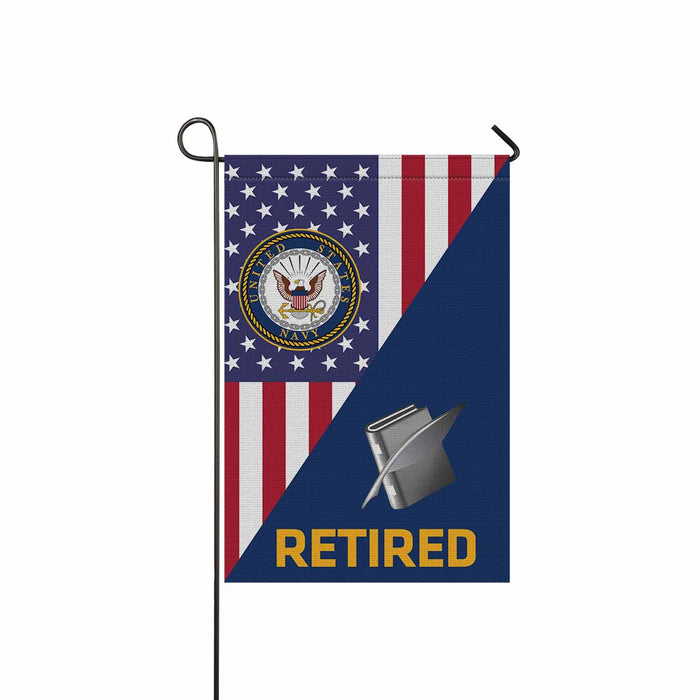 Navy Personnel Specialist Navy PS Retired Garden Flag 12'' x 18'' Twin-Side Printing