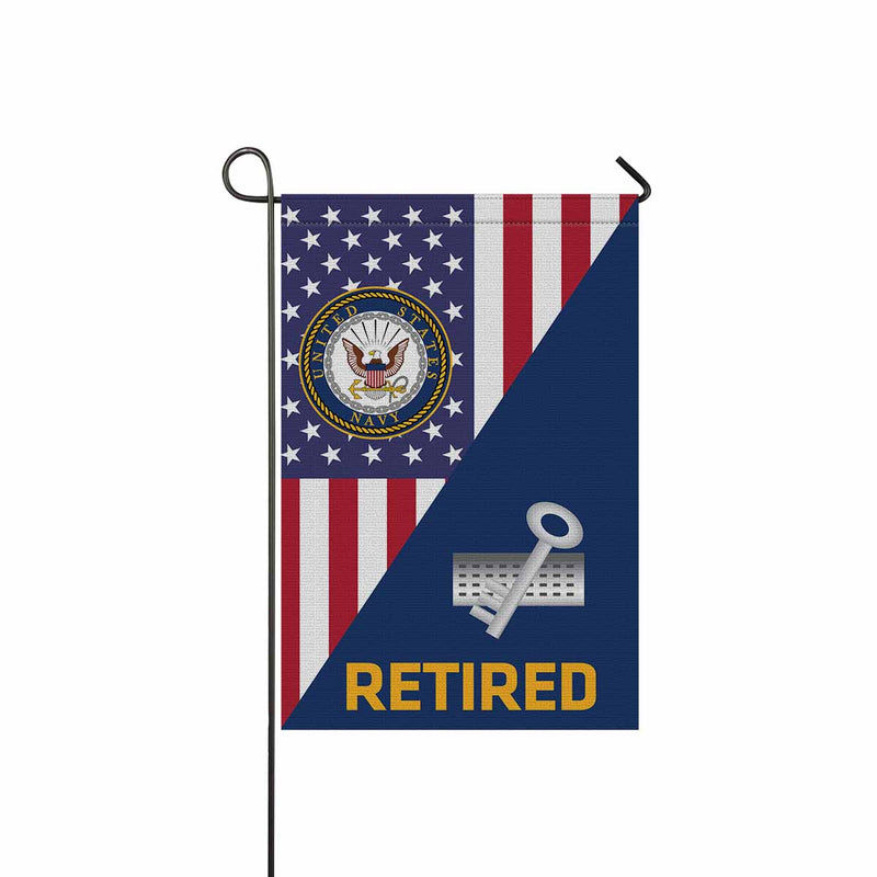 Navy Disbursing Clerk Navy DK Retired Garden Flag 12'' x 18'' Twin-Side Printing