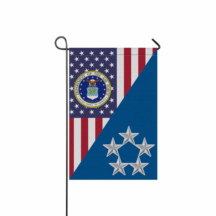 US Air Force O-10 General of the Air Force GAF O10 General Officer Ranks Garden Flag 12'' x 18'' Twin-Side Printing