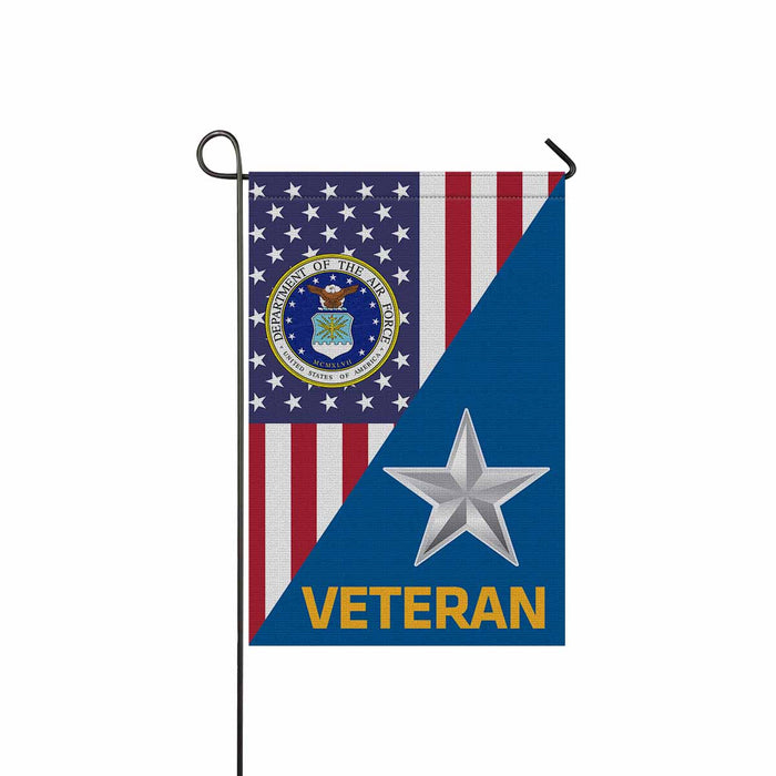 US Air Force O-7 Brigadier General Brig O7 Veteran Garden Flag 12'' x 18'' Twin-Side Printing