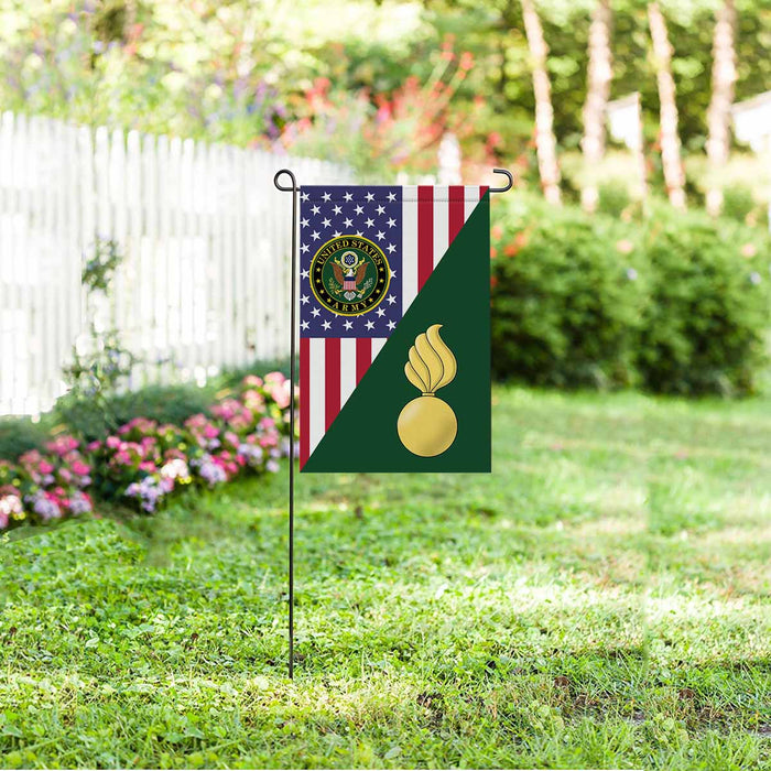 US Army Ordnance Corps Garden Flag 12 Inch x 18 Inch Twin-Side Printing