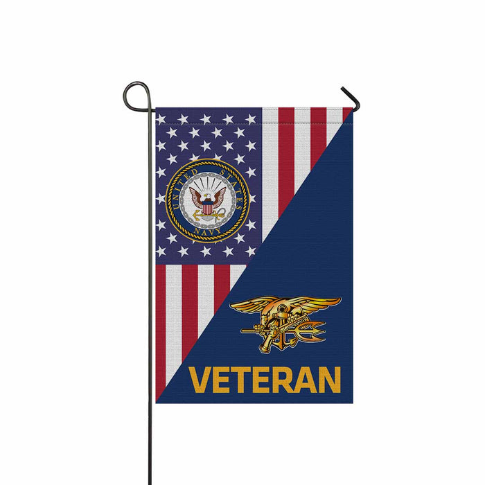 US Navy Special Warfare Veteran Garden Flag 12'' x 18'' Twin-Side Printing