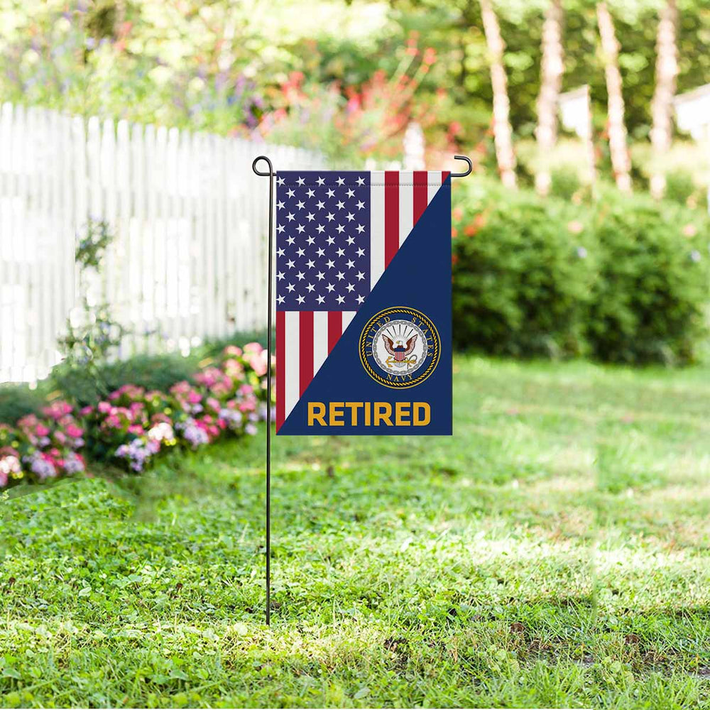 US Navy Retired Garden Flag 12'' x 18'' Twin-Side Printing