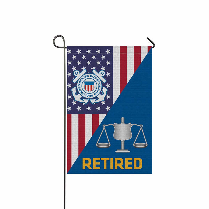 USCG INVESTIGATOR IV Retired Garden Flag 12'' x 18'' Twin-Side Printing